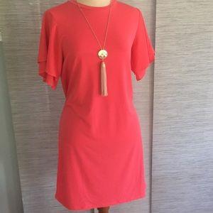 Michael Kors shirt dress w/ flutter sleeves XS NEW